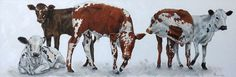 Playmates.  150 x 50 cm.. Oil on canvas