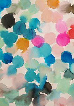 (via Emily Green — Watercolour painting - seafoam hot pink mustard teal)