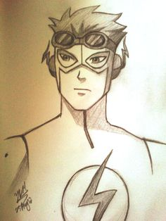 Young+Justice+Sketches | kid flash sketch by yesi chan on deviantart