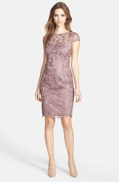 Adrianna Papell Lace Sheath Dress (Regular
