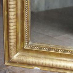 antique french louis phillipe mirror - photo angle #2