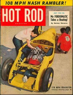 Cool Vintage Hot Rod Magazine Covers : 1950 | Graphic Design ...
