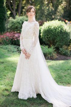 Dreamy spring wedding dress: http://www.stylemepretty.com/2016/03/29/the-prettiest-wedding-details-for-every-season/