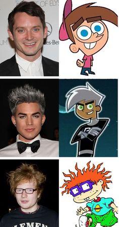 10 Male Celebrities Who Look Exactly Like Nickelodeon Cartoon ...