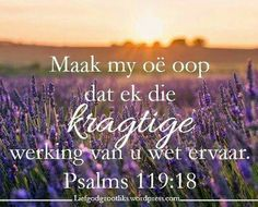 'n Gebed vir ons vanoggend. Maak my oë vanoggend oop,  Jesus praat met my deur U Woord, help my om te hoor en gehoorsaam te wees aan U roeping op my lewe .