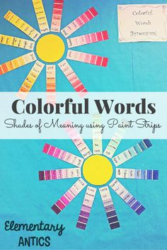 A fun activity to practice shades of meaning with different words. Great lesson for narrative writing too!
