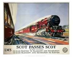 Scot passes scot on VintageRailPosters.co.uk Prints