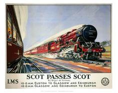 Scot passes scot on VintageRailPosters.co.uk Prints