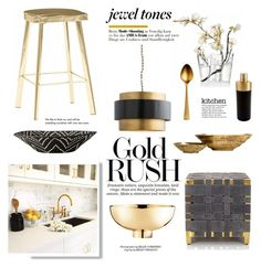 """Gold Rush"" by barngirl ❤ liked on Polyvore featuring interior, interiors, interior design, home, home decor, interior decorating, Arteriors, iittala, Cambridge Silversmiths and Georg Jensen"