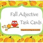 This pack includes 20, fall themed task cards.  Students are asked to identify the adjective in each sentence.    Common Core Aligned: CCSS.ELA-Lit...