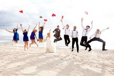 Fiji Wedding beach jump! Photography by deepgrey.com.au