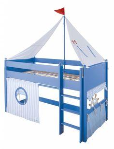 Kinderbett segelboot  Exklusives, komplett umbaubares Kinderbett 'Segelboot' in blau im ...