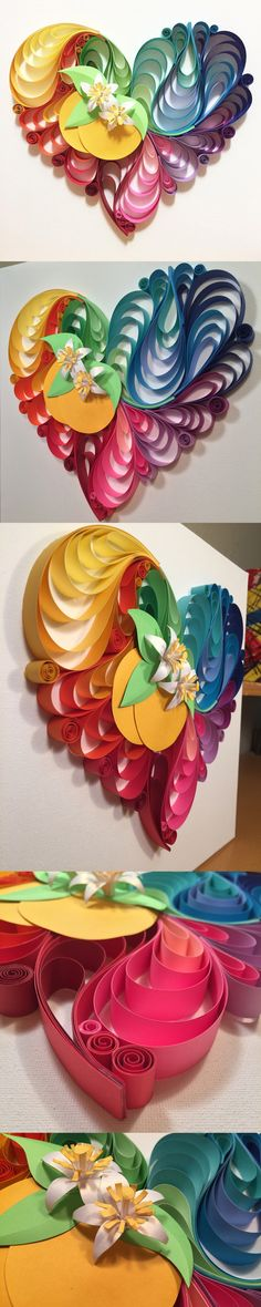 Love Blooms Here Paper quilling art by Katherine Young #Orlandostrong #lovebydesign #orlandounited #pulse
