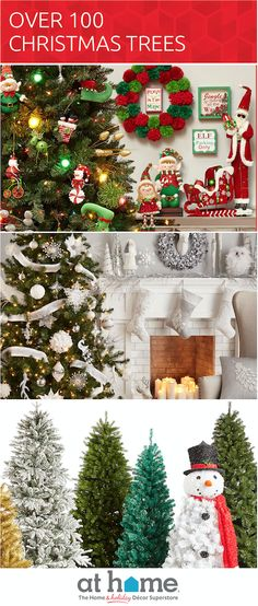 Save on over 100 Christmas tree styles and sizes for every space! Browse now and see why At Home is The Home & Holiday Décor Superstore.