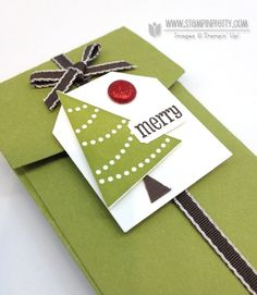 Pennant Parade stamp set. Designed by Mary Fish, Independent Stampin' Up! Demonstrator. Details, supply list and more card ideas on http://stampinpretty.com/2012/11/stampin-up-petite-pocket-gift-card-trio.html