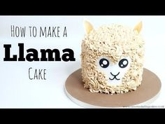 6 Awesome Llama Cakes - diy Thought Mini Cakes, Cupcake Cakes, Cupcakes, Llama Birthday, 10th Birthday, Gateaux Cake, Cake Youtube, Buttercream Recipe, Topper