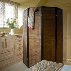 The perfect Privacy or Dressing screen - our Sukuri /Formosa Walnut screen