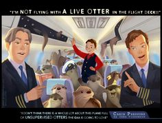 """...or are the otters lounging in relative comfort?"" @cabin_pressure This took a lil longer but the otters helped ;-) pic.twitter.com/MI0kOOjtK9 (Gracein140, twitter)"