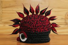 Monster Hat: HUDSON! | Available exclusively on Monster Hat Island! Check out all the one-of-a-kind crochet monster hats at monsterhatisland.com.