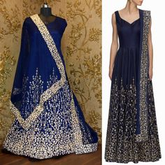 A navy blue anarkali enhanced with golden embroidered accent and scoop neck. It comes with matching dupatta fits true to its size.  Product Details : Code : S613 Colour : Navy Blue Fabric : Georgette Type : Embroidered Neck Type : V Neck Sleeve Type : Sleeveless Form : Semi Stitched  Price : 2500 INR Only ! #Booknow  CASH ON DELIVERY Available In India ! World Wide Shipping !  For orders / enquiry  WhatsApp @ 91-9054562754 Or Inbox Us  Worldwide Shipping !  #SHOPNOW  #indianwear #ethnicwear…
