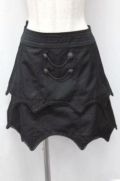 BLACK PEACE NOW / double button scalloped skirt (Black Peace Now) 1,500 yen