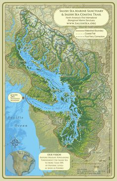 SALISH SEA MARINE SANCTUARY SALISH SEA MARINE SANCTUARY North America's First International Marine Sanctuary A partnership of the people and governments of Coast Salish First Nations, British Columbia and Washington State coming together in unprecedented unified action to cooperatively designate, design and implement the Salish Sea Marine Sanctuary & Coastal Trail