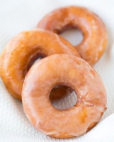 Krispy Kreme Glazed Doughnuts | Save Money and Enjoy Delicious Recipes at Home that Taste Just Like The Original! Check it out at http://homemaderecipes.com/15-copycat-recipes/