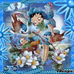 Betty Boop Summer | Mary Nelson    ⋱ ⋮ ⋰  ⋯ ◯ ⋯ Blessings*´¯`.¸¸.☆ ⋰ ⋮ ⋱ Have a Beautiful Day my Friend !.*´¯`.¸¸.☆