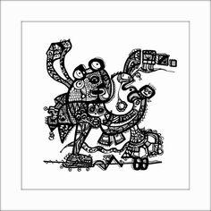 HäkelBild VIII von Etelka Kovacs-Koller - mad for art auf DaWanda.com Illustration, Artworks, Mad, Etsy, Drawing S, Illustrations, Art Pieces