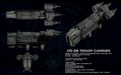 CR-25 Troop Carrier ortho by unusualsuspex on deviantART