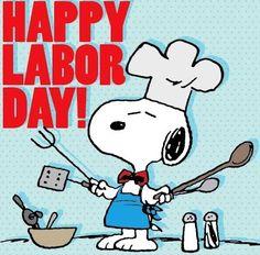 Happy Labor Day! Snoopy cartoon via www.Facebook.com/Snoopy