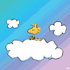 Woodstock Sitting on a Cloud