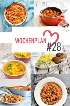 Weekly schedule # Varied recipe ideas for a week. Easy Cooking, Cooking Recipes, Vegetarian Meal Prep, Menu Planning, Better Life, Breakfast Recipes, Curry, Easy Meals, Food And Drink