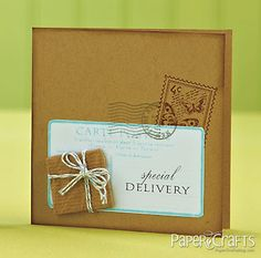 Special Delivery Card by Tina Basa