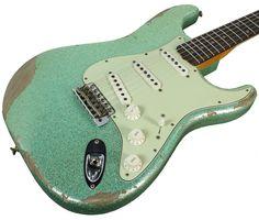 Fender Custom Shop 60s Heavy Relic Compound Radius Strat - Sea Foam Gr   Humbucker Music