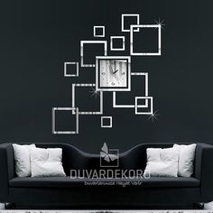 Acrylic Modern Wall Clock Mirror Home Decoration's by EDecorShop, $49.00