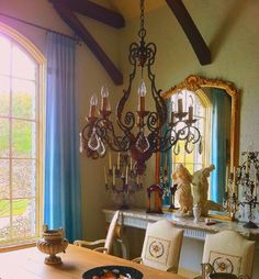 Leo Dowell Interiors — A fascinating French Country dining room. The...