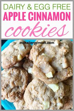 Kids love these dairy and egg free apple cinnamon cookies! Click for recipe at Milk Allergy Mom. Egg Free Cookies, Apple Cookies, Cinnamon Cookies, Cookies For Kids, Apple Cinnamon, Egg Free Recipes, Fall Recipes, Cookie Recipes, Dairy Free Baking