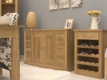 baumhaus mobel solid oak six drawer sideboard console table cor02b rrp 649 walnut walnut sideboardmodern sideboardcontemporary dining room