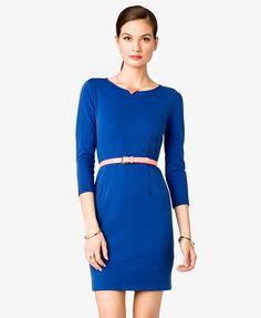 3/4 Sleeve Sheath Dress | FOREVER21 - 2021090703 $22.80 For Belle Dapper Day