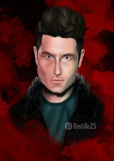 Digital art of Dan Smith from Bastille in Photoshop (on the motive of photo from nme magazine)
