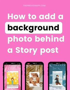 Want to add a background photo when sharing a feed post in your Instagram Story? Here is how to add a background photo or any image when you share a feed post in your Instagram Stories. It works for iPhone and Android too! #instagramtips #instagramstrategy #instagrammarketing #socialmedia #socialmediatips Photography Templates, Photography Tutorials, Instagram Bio, Instagram Story, Creative Instagram Photo Ideas, Instagram Marketing Tips, Background Pictures, Photo Tips, Social Media Tips