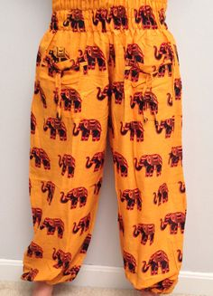 Indian Yogi Orange Baggy Yoga pants  Elephant by theBilvatree, $15.99 Yoga Harem Pants, Elephant, Indian, Orange, Shopping, Fashion, Moda, La Mode, Fasion