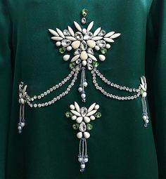#wedding #weddingdress Bead Embroidery Patterns, Hand Embroidery Flowers, Couture Embroidery, Embroidery Fashion, Hand Embroidery Designs, Ribbon Embroidery, Motifs Perler, Muslim Women Fashion, Bead Sewing