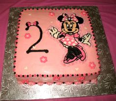 Minnie Mouse Buttercream Sheet Cake