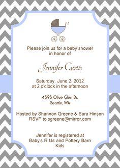 Chevron Baby Shower Invitation, will be on Etsy soon!
