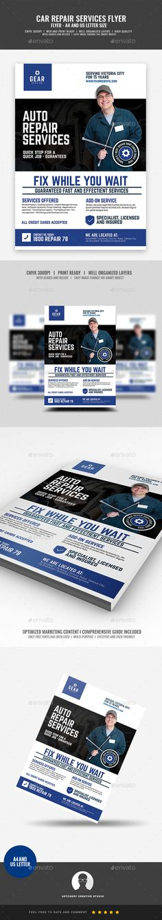 #Auto and Car Repair Center Flyer - #Corporate #Flyers
