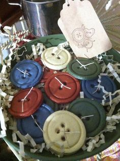 Buttons Salt dough ornies bowl fillers by SewSweetAnnies on Etsy Salt Dough Projects, Salt Dough Crafts, Salt Dough Ornaments, Clay Ornaments, Primitive Crafts, Primitive Christmas, Christmas Crafts, Primitive Decorations, Craft Dough Recipe