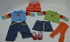 American Girl Bitty Baby Clothes Jeans Skirt Sweater Shoes Tights Vest Lot 8  #ClothingShoes http://stores.ebay.com/Lost-Loves-Toy-Chest/_i.html?image2.x=26&image2.y=10&_nkw=american+girl
