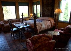 One of many guest bedroom at the Hearst Castle.  They enjoyed the lap of luxury.